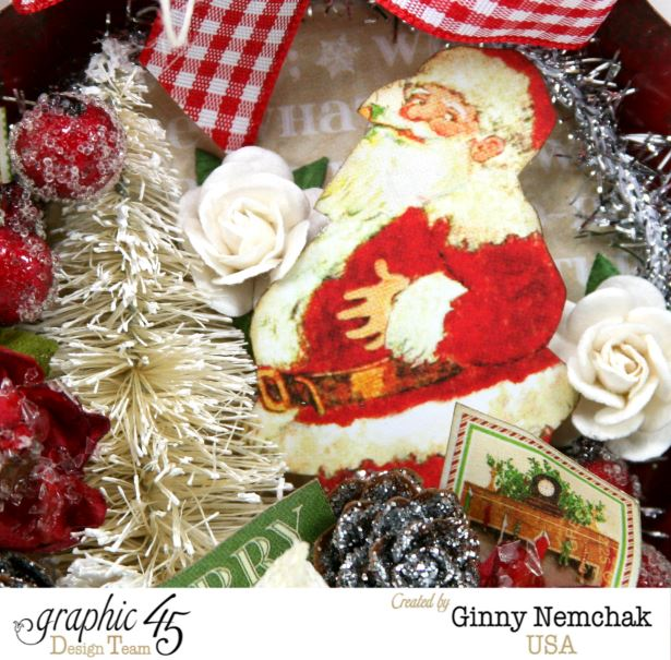 Santa Tart Tin Ornament 10