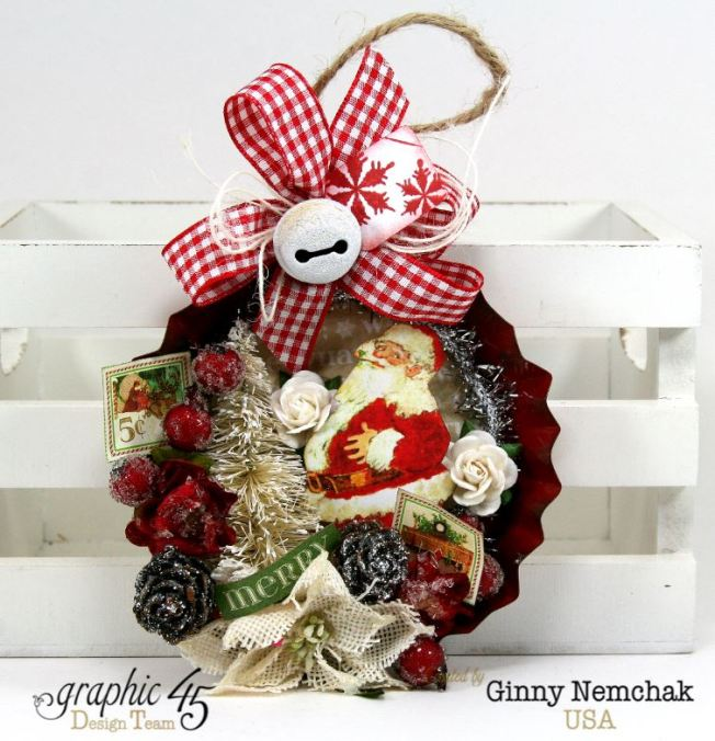 Santa Tart Tin Ornament 6