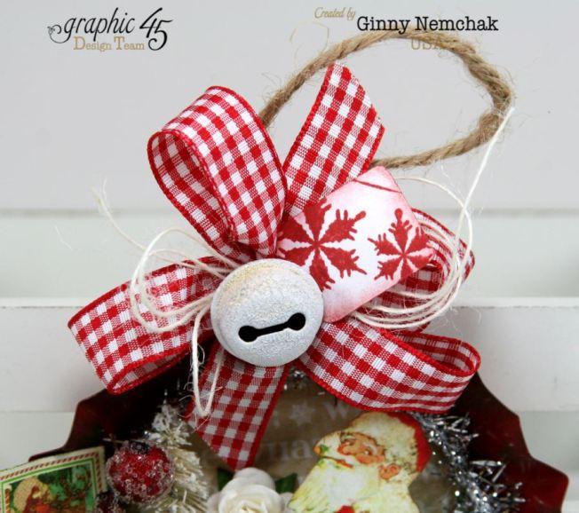 Santa Tart Tin Ornament 8