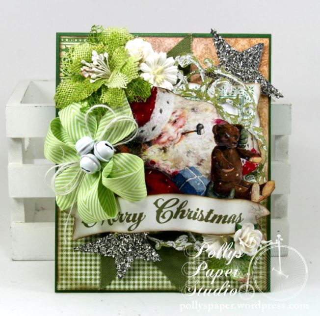 Sparkle and Shine Santa Greeting Card 3