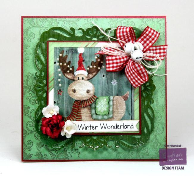 Winter Wonderland Moose Card Crafter's Companion 1