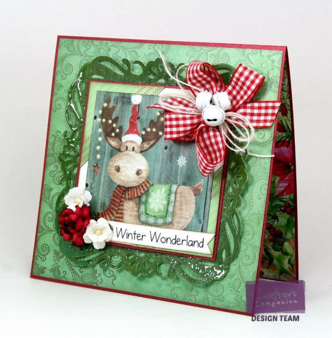 Winter Wonderland Moose Card Crafter's Companion 2