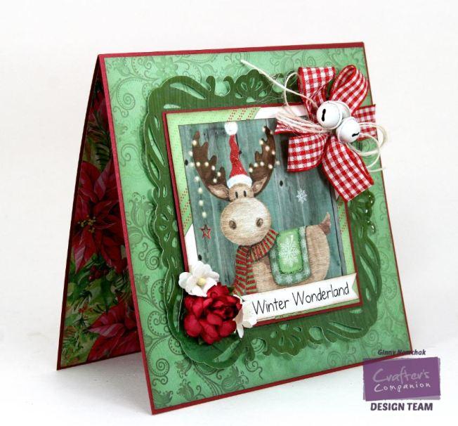 Winter Wonderland Moose Card Crafter's Companion 3