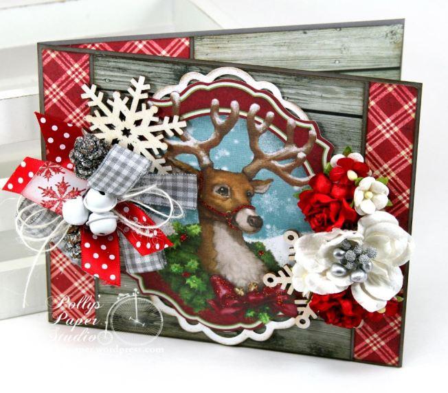 Woodland Deer Christmas Greeting Card 1