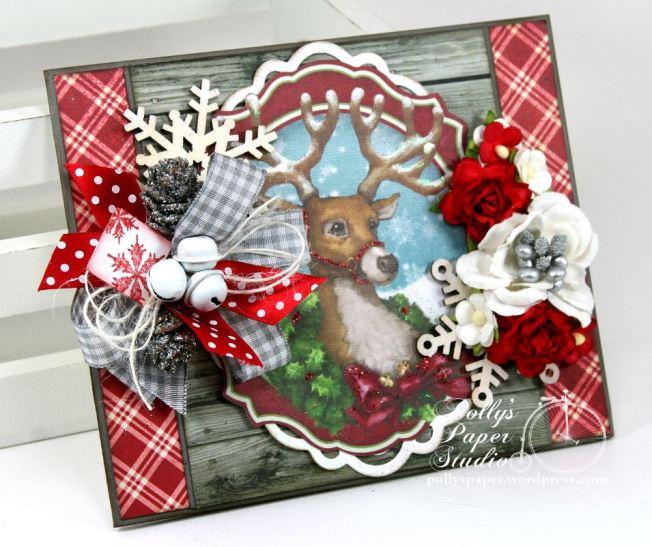 Woodland Deer Christmas Greeting Card 2