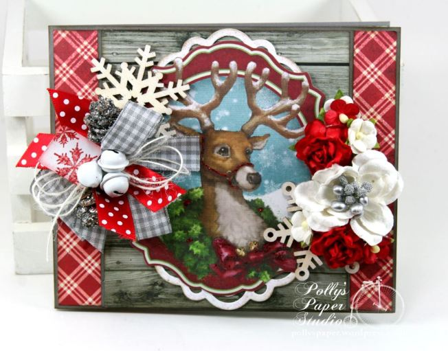 Woodland Deer Christmas Greeting Card 3