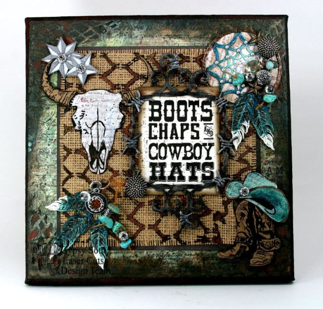 Boots Chaps and Cowboy Hats Western Wall Hanging 1