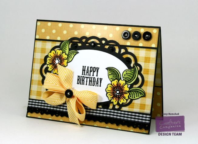 Happy Birthday Card Crafter's Companion CHA Sample  Watermark