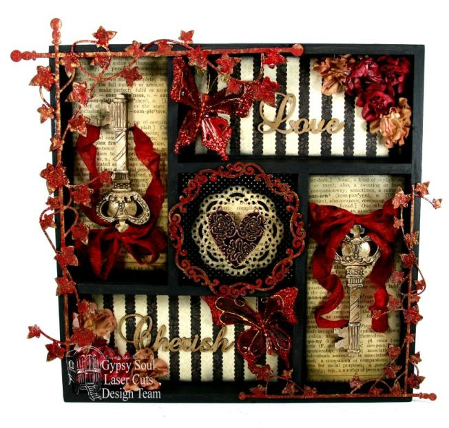 Love & Cherish Printer Tray Gypsy Soul Laser Cuts 1