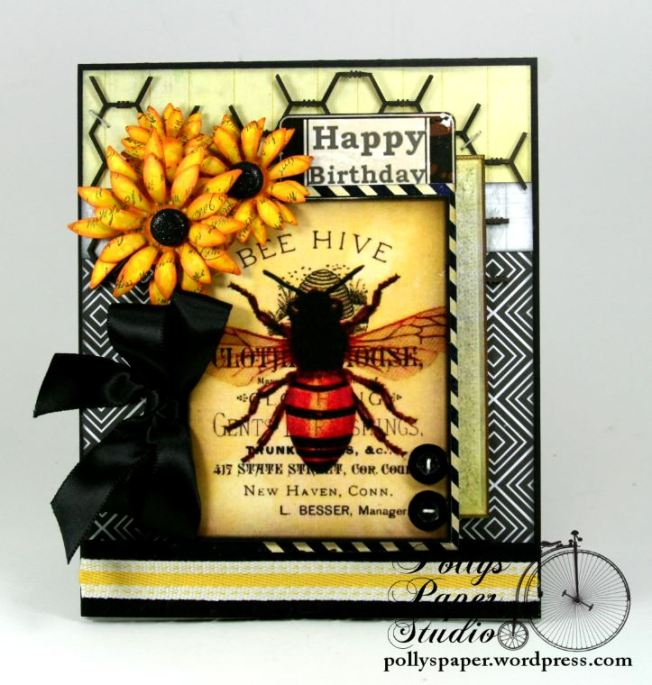 Bee Hive Happy Birthday Card 1