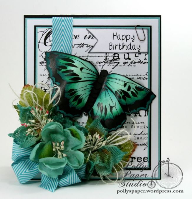 butterfly birthday card 2