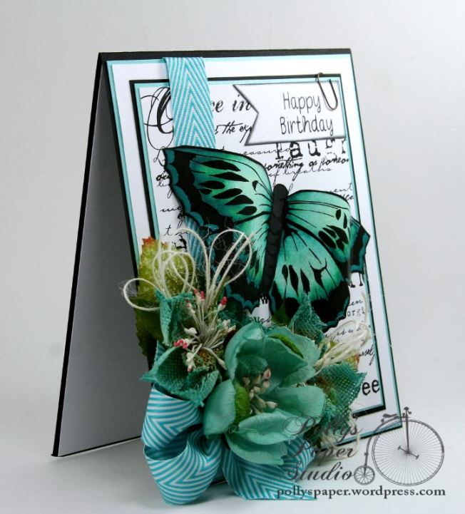 butterfly birthday card 3