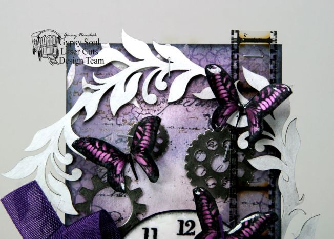Butterfly Clock Tag 3
