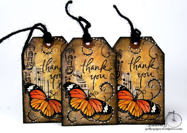 Butterfly Thank You Tags