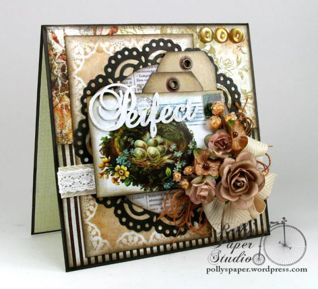Perfect Nest Greeting Card Handmade 2
