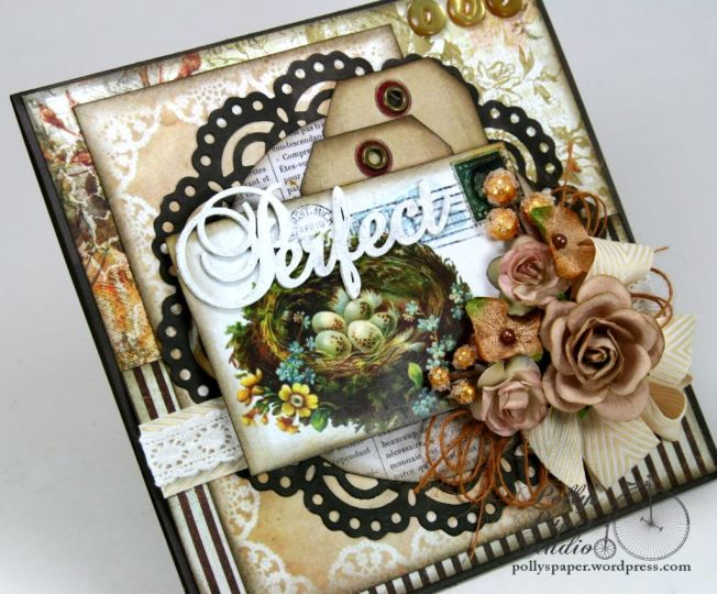 Perfect Nest Greeting Card Handmade 5