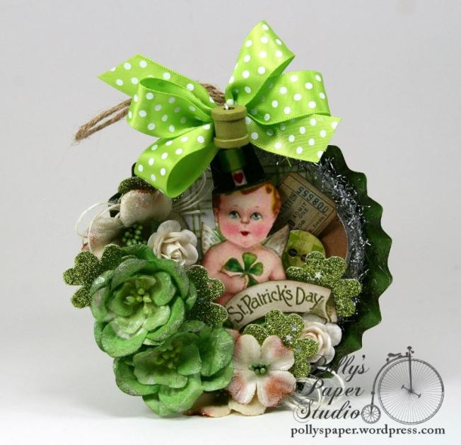 Saint Patricks Tart Tin Ornament 1