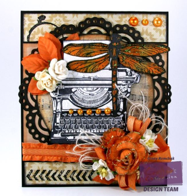 Orange Dragonfly Card 1