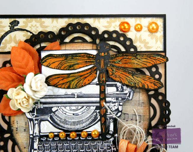 Orange Dragonfly Card 3