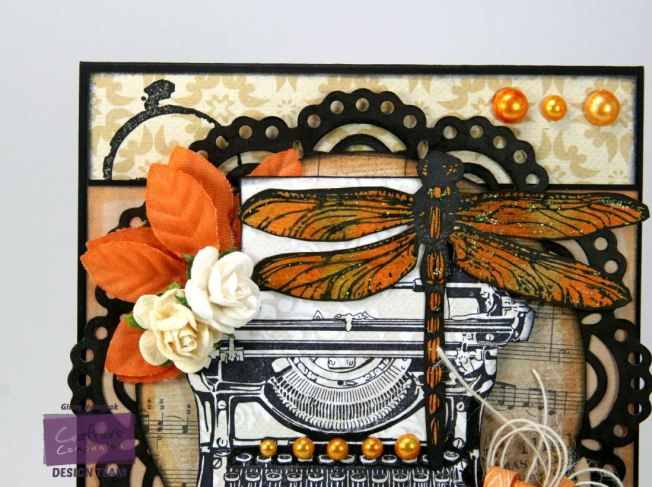 Orange Dragonfly Card 4
