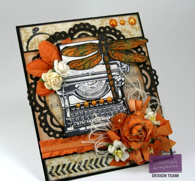 Orange Dragonfly Card 5
