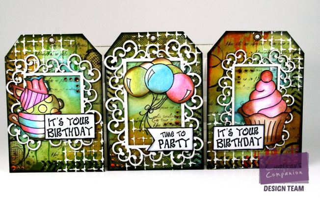 Party Time Tags Crafter's Companion Watermark