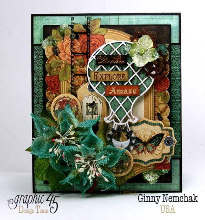 Steampunk Debutante Dream Card Ginny Nemchak Graphic 45 1
