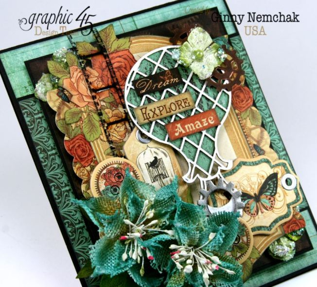 Steampunk Debutante Dream Card Ginny Nemchak Graphic 45 4