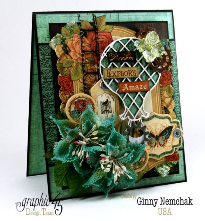 Steampunk Debutante Dream Card Ginny Nemchak Graphic 45