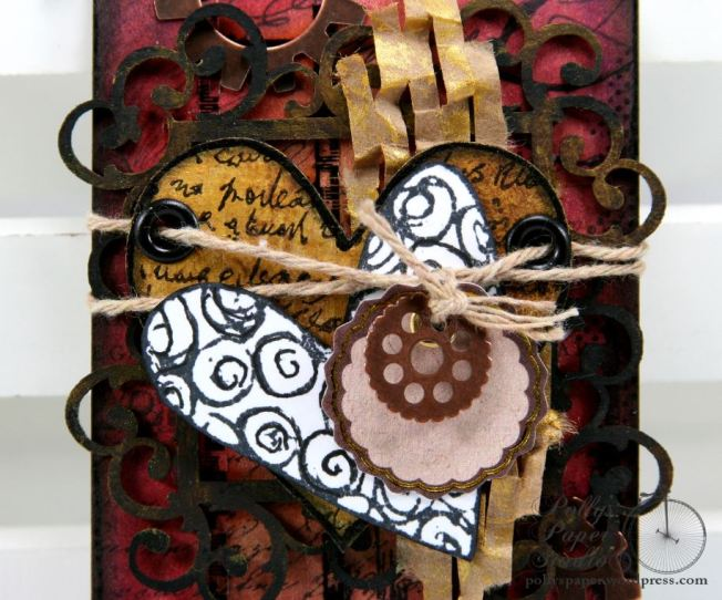 Two Hearts in One Tag Mixed Media 3