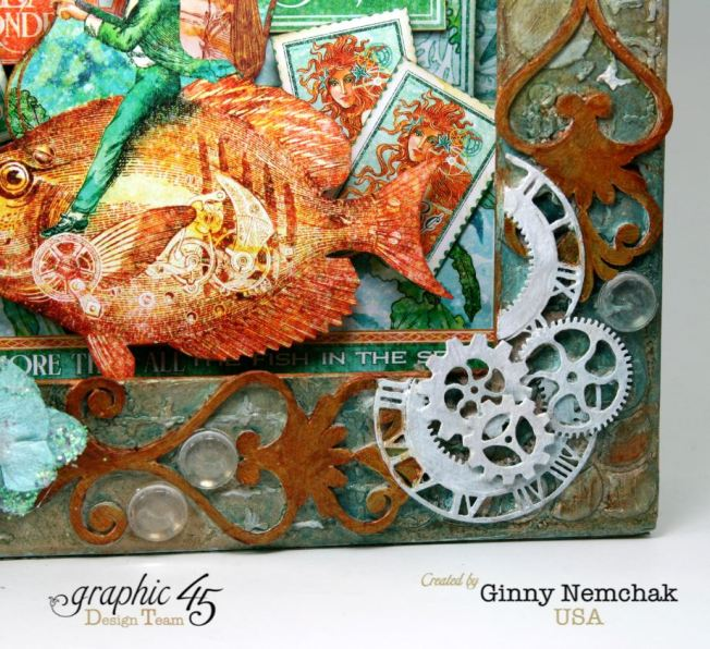 Voyage Beneath The Sea Mixed Media Matchbook Box Graphic 45 8