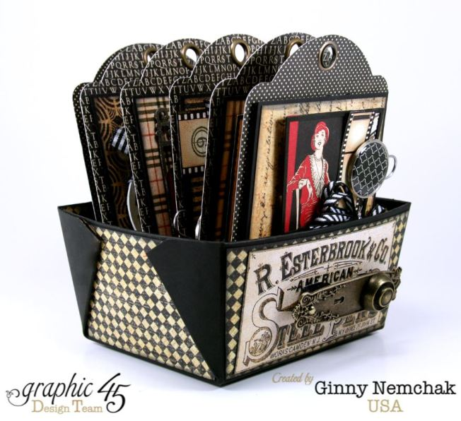 Commuique Box With Tags Graphic 45 Ginny Nemchak Communique 2