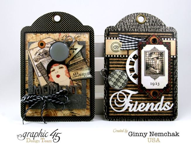 Commuique Box With Tags Graphic 45 Ginny Nemchak Communique 5