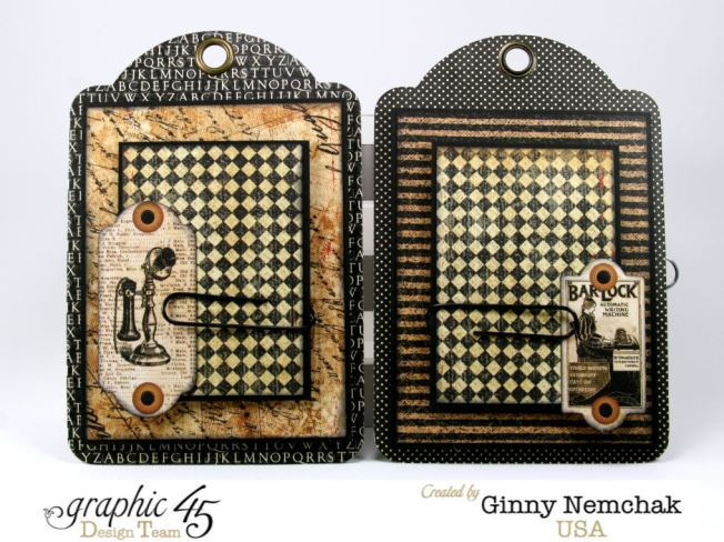 Commuique Box With Tags Graphic 45 Ginny Nemchak Communique 6