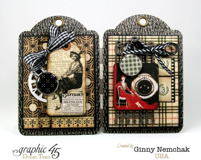 Commuique Box With Tags Graphic 45 Ginny Nemchak Communique 7
