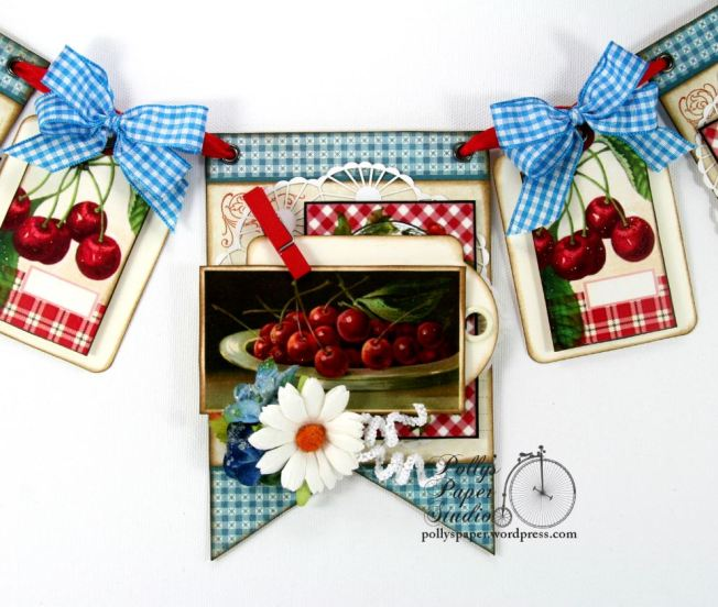 Summer Cherries Vintage Country Banner 1