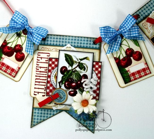 Summer Cherries Vintage Country Banner 4