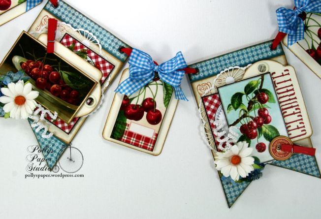 Summer Cherries Vintage Country Banner 5