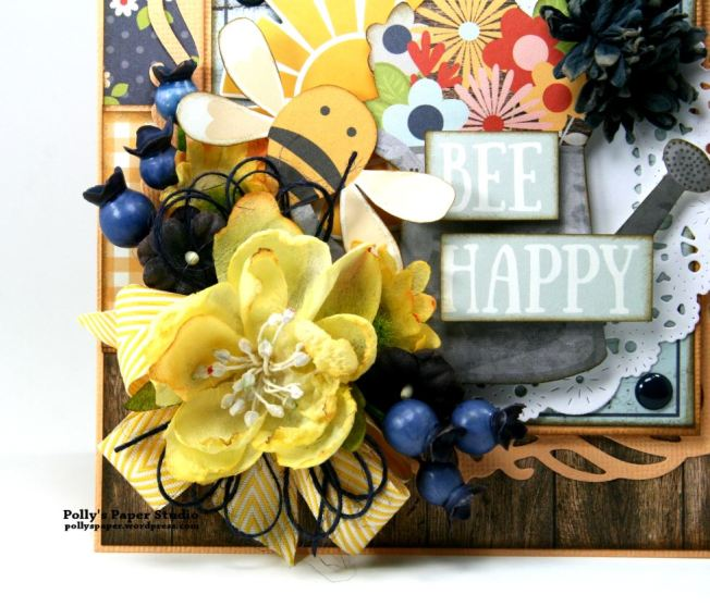 Bee Happy Card Simple Stories Petaloo 3