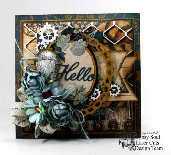 Hello Steampunk Greeting Card GSL BoBunny 2