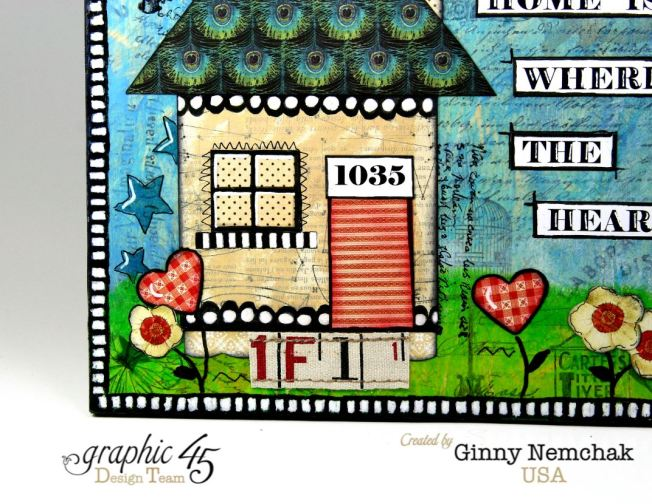 Home Is Where The Heart Is Mixed Media Wall Hanging Graphic 45 2