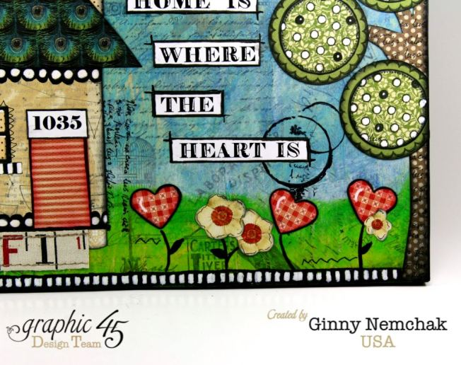Home Is Where The Heart Is Mixed Media Wall Hanging Graphic 45 5
