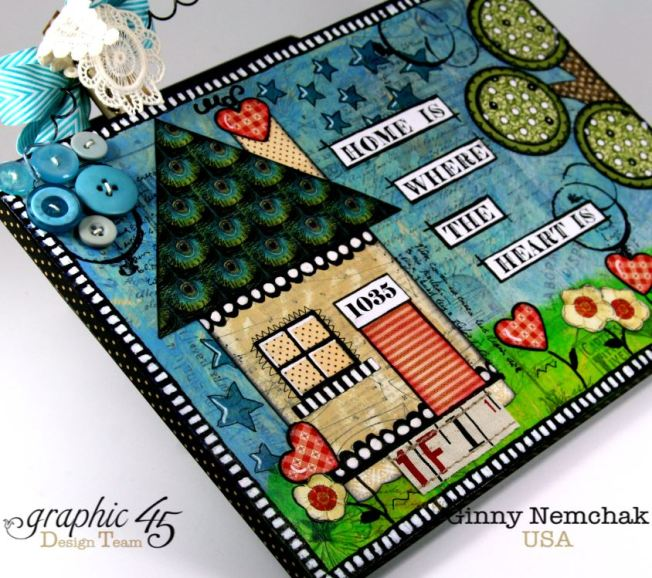 Home Is Where The Heart Is Mixed Media Wall Hanging Graphic 45 6