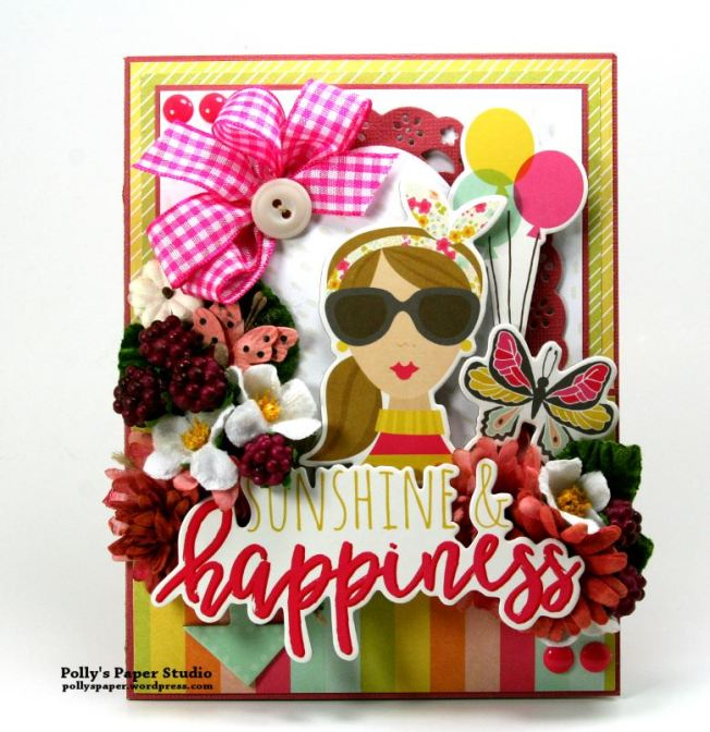 Sunshine and HAppiness Card Petaloo Simple Stories 1