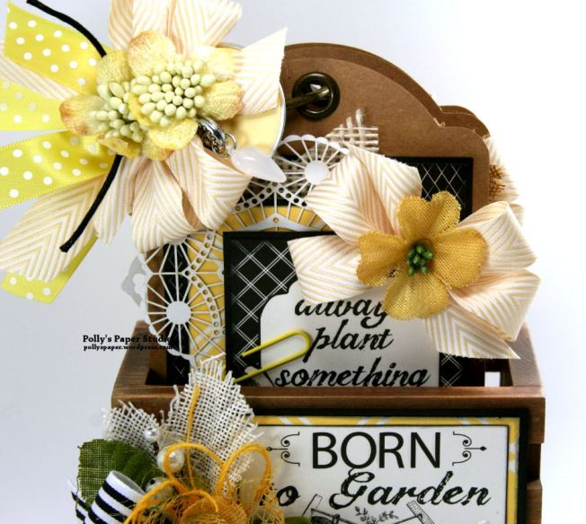 Born to Garden Crate with Tags Petaloo Canvas Corp 4