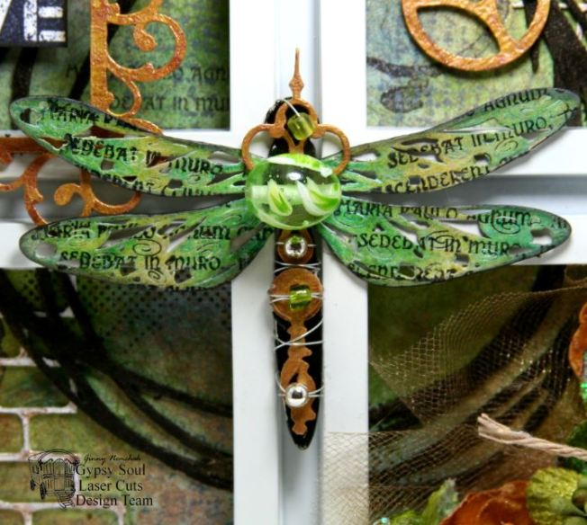 Dragonfly Wall Art Mixed Media 5