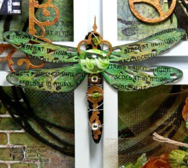 Dragonfly Wall Art Mixed Media 5