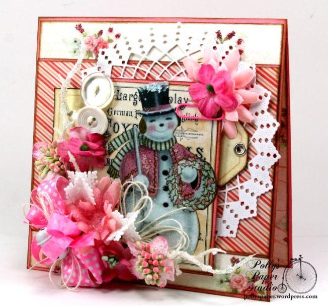 Pink Snowman Card 2