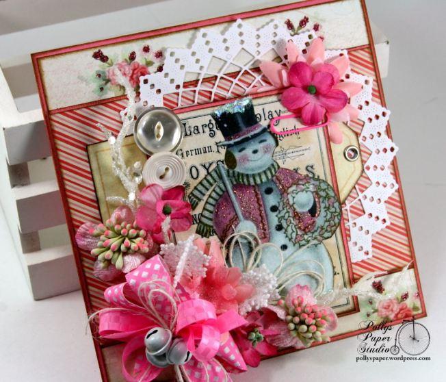 Pink Snowman Card 7