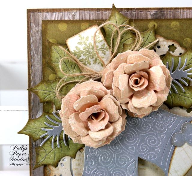Shabby Chic Bells Christmas Greeting Card Cheery Lynn Ginny Nemchak Polly's Paper Studio